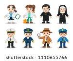 kid set of different... | Shutterstock .eps vector #1110655766