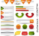 web elements set   Shutterstock .eps vector #111065744