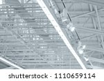 structure steel frame of metal... | Shutterstock . vector #1110659114