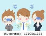 cute cartoon businessman with... | Shutterstock .eps vector #1110661136
