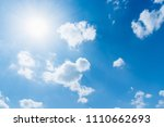 blue sky background with tiny... | Shutterstock . vector #1110662693