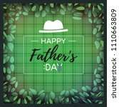 happy father's day greeting... | Shutterstock .eps vector #1110663809