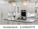 white farmhouse kitchen | Shutterstock . vector #1110665570