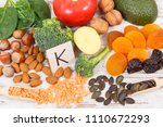 fresh fruits and vegetables... | Shutterstock . vector #1110672293