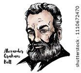 alexander graham bell... | Shutterstock .eps vector #1110672470
