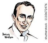 james watson watercolor vector... | Shutterstock .eps vector #1110672476