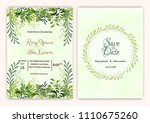 wedding card with beautiful... | Shutterstock .eps vector #1110675260