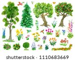 Design Set With Trees  Nature...