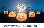 halloween vector background.   Shutterstock .eps vector #1110685010