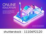 online education vector...   Shutterstock .eps vector #1110692120