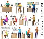 vector illustration of set of... | Shutterstock .eps vector #1110693440