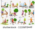 vector illustration of set of... | Shutterstock .eps vector #1110693449