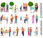 vector illustration of set of... | Shutterstock .eps vector #1110693479