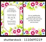 vintage delicate invitation... | Shutterstock .eps vector #1110695219