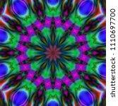 psychedelic art. decorative... | Shutterstock . vector #1110697700