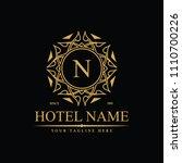luxury logo template in vector... | Shutterstock .eps vector #1110700226