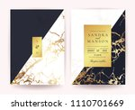 wedding invitation cards with... | Shutterstock .eps vector #1110701669
