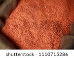 orange   red lentils. legumes ... | Shutterstock . vector #1110715286