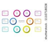 simple business info graphics | Shutterstock .eps vector #1110718028