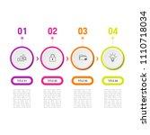 simple business info graphics | Shutterstock .eps vector #1110718034