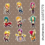 rock band stickers | Shutterstock .eps vector #111072773