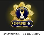 gold badge or emblem with map ...   Shutterstock .eps vector #1110732899
