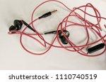 obsolete entangled earphones    Shutterstock . vector #1110740519