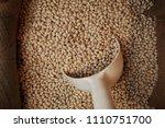 orange   red lentils. legumes ... | Shutterstock . vector #1110751700