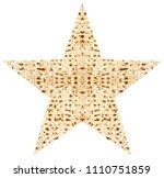 traditional jewish matzoth... | Shutterstock . vector #1110751859