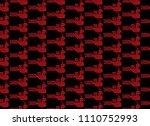 seamless pattern bird of...   Shutterstock .eps vector #1110752993
