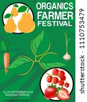 organics farmer festival | Shutterstock .eps vector #1110753479