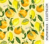 juicy citrus fruits in a...   Shutterstock .eps vector #1110756134
