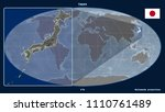 zoomed in view of japan outline ... | Shutterstock . vector #1110761489