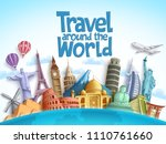 travel around the world vector... | Shutterstock .eps vector #1110761660