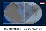 zoomed in view of iraq outline... | Shutterstock . vector #1110763439