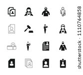 occupation icon. collection of... | Shutterstock .eps vector #1110764858