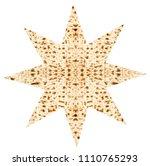 traditional jewish matzoth... | Shutterstock . vector #1110765293