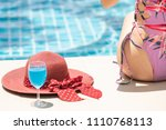 happy young woman wearing... | Shutterstock . vector #1110768113