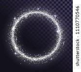 round glitter frame of silver... | Shutterstock .eps vector #1110770546