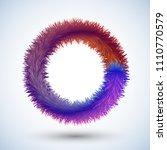 round fluffy frame  fluffy ring   Shutterstock .eps vector #1110770579
