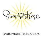 summertime   lettering... | Shutterstock .eps vector #1110773276