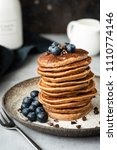 pancakes with buckwheat and oat ... | Shutterstock . vector #1110774146