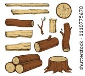 wood  burning materials. vector ... | Shutterstock .eps vector #1110775670