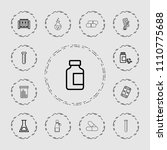 pharmaceutical icon. collection ...   Shutterstock .eps vector #1110775688