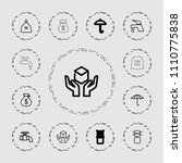keep icon. collection of 13... | Shutterstock .eps vector #1110775838