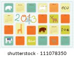 Eco Calendar For The Year 2013