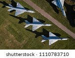 aerial drone view on old jet... | Shutterstock . vector #1110783710