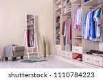 large wardrobe with different... | Shutterstock . vector #1110784223