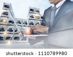 industry   logistics shipping... | Shutterstock . vector #1110789980