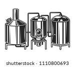 vintage brewing machine concept ... | Shutterstock .eps vector #1110800693